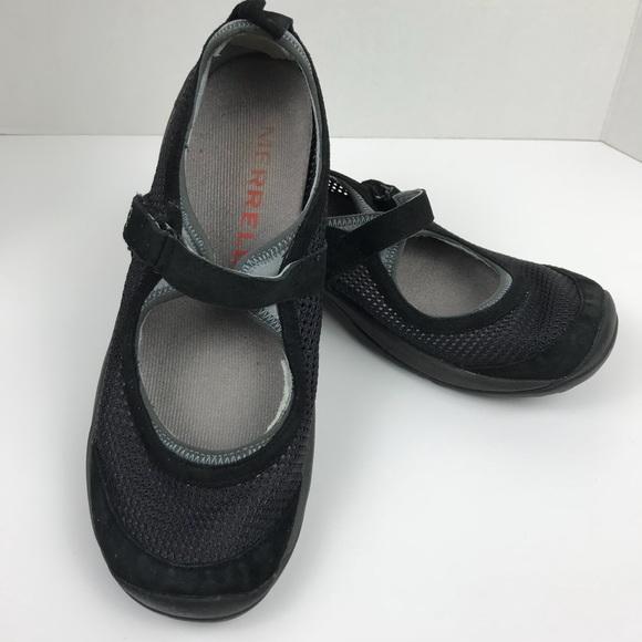 62c3f7c7e Merrell Encore Strap Shoe Black Mary Janes Suede